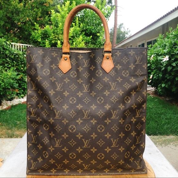 84f32b328821 Louis Vuitton sac plat monogram large tote bag